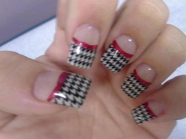 houndstooth ALABAMA FANS - Houndstooth ALABAMA FANS - Nail Art Gallery