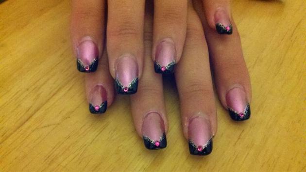 Pink & Black Chevron French