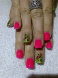 Pink & Green Leopard