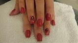 Red w/ Black Leaves