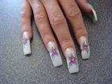 Pink n White Acrylic