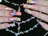 10 Diffrent colored acrylics w/Desighns