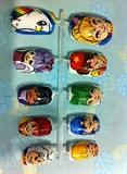 Rainbow Brite Hand Painted Nail Set
