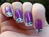Zebra Fashion French Manicure