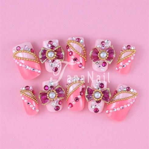3D ribbon nails