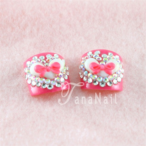 Lovely pink toenails