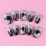 Silver tips nails