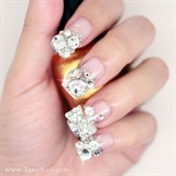 Rhinestone tips nails