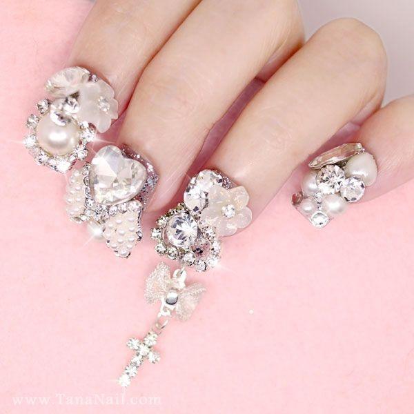 Silver piercing nails - Nail Art Gallery