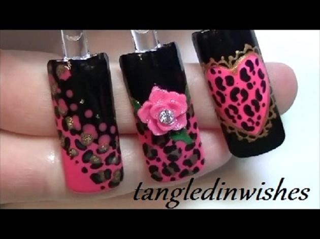 Betsey Johnson Inspired Leopard Nail Art