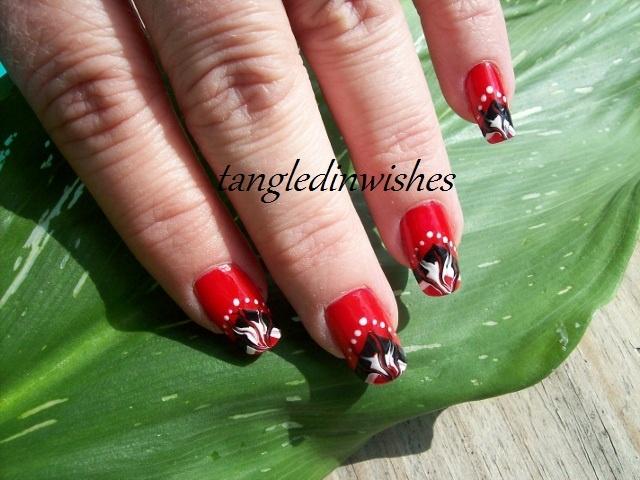Lady Bug Inspired Abstract Nail Art Nail Art Gallery
