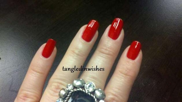 Traditonal Red Polish on Natural Nails