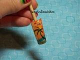 Sunset/Palm Tree Nail Art Design