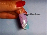 Pastel Abstract Nail Art Design