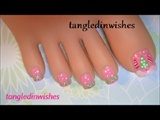 Christmas Toes-Pink Christmas Nail Art