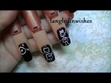 Cute Robots in Love Nail Art Design