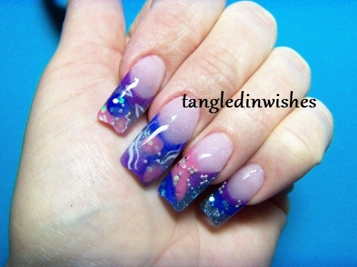 Ocean Inspired Inlaid Sculpted Acrylics