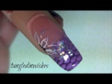 Net Imprinted Snake Skin Acrylic Nail