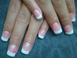 Pink sparkle and With french pink bow