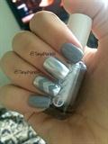 Grey And Silver Metallic Chevron