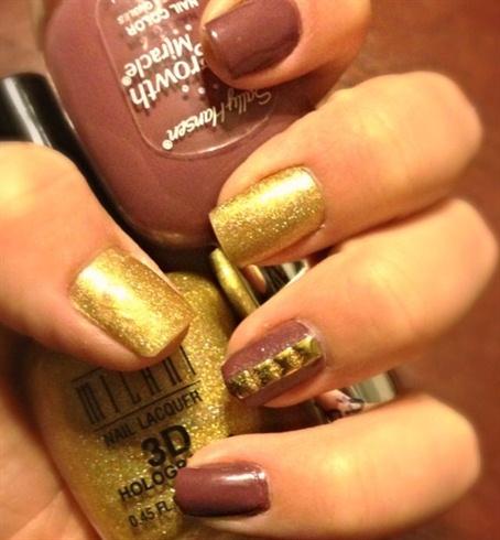 Gold Blush Nail Art Gallery