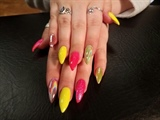 Optic Yellow & Pink