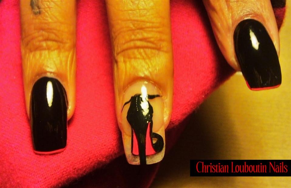 Christian Louboutinred Bottom Nails Nail Art Gallery