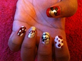 1980's mickey mouse nail art