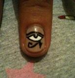 Eye of the Horus nail art