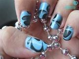BlueBlack Watermarble