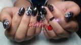 black Birthday nails