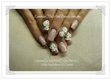 Soft Pink with white Flowers