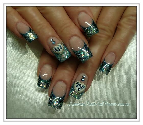 Sparkly Blue, Zebra & Leopard Print