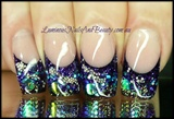 Glittery Luminous Purple