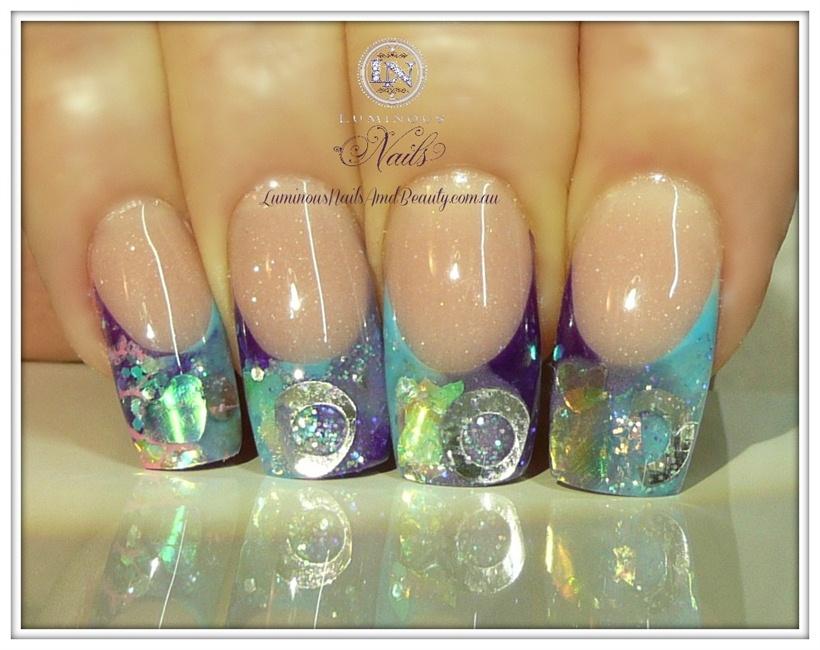Blue, Purple & Violet... - Nail Art Gallery