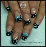 Blue & Lilac Polka Dots & Bows