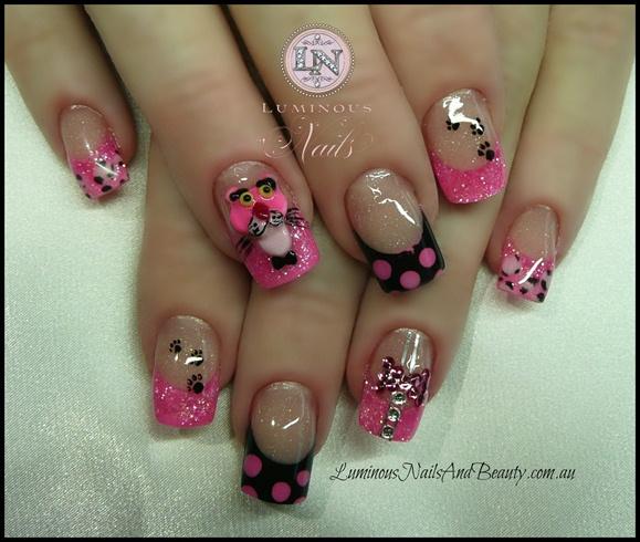 Pink Panther! - Pink Panther!! - Nail Art Gallery