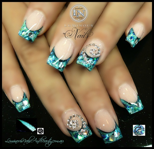 Koru Paua Shell Nails