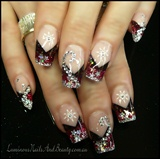 Glittery Red, Snow Flakes & Bling!