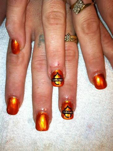 Harley nail art