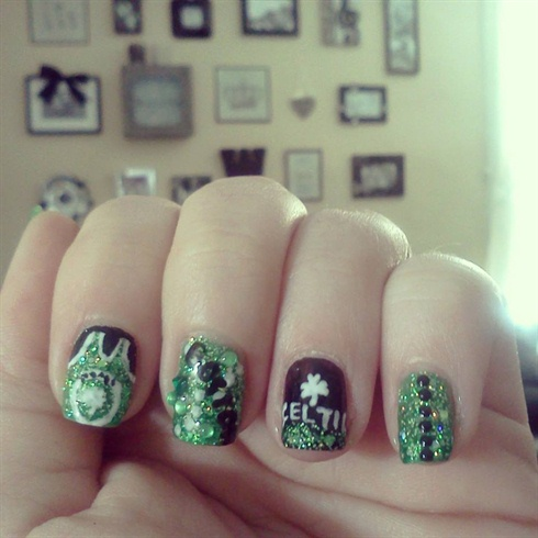 Boston Celtics Nail Art Gallery