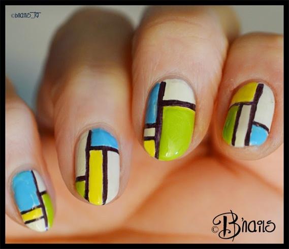 Green,blue,yellow Mondrian