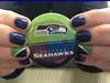 Seahawks Nails 2014