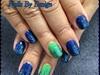 Med Subtle Seahawks Nails