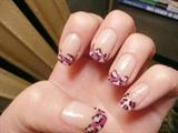 Purple/pink leopard