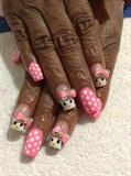 Hello Kitty Pink Polka Dot Mani