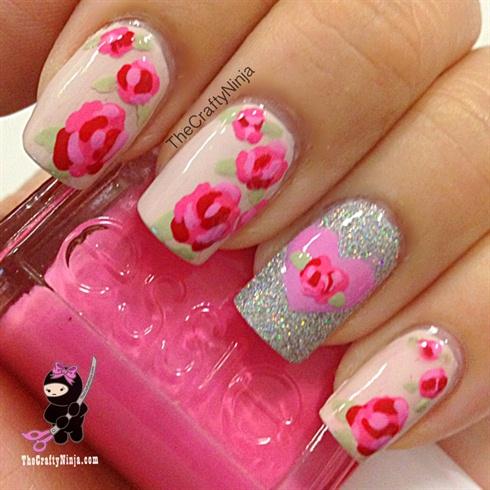 Pretty Rose Nails