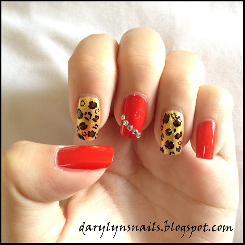 Leopard prints and red bling