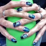 Marbelizing in Blue