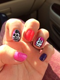 Micky Mouse Skull Nails